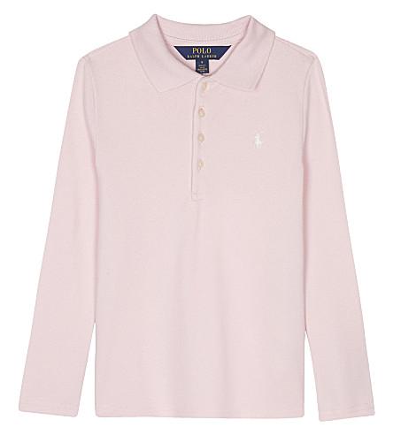 RALPH LAUREN Logo cotton polo shirt 2-6 years (Hint+of+pink