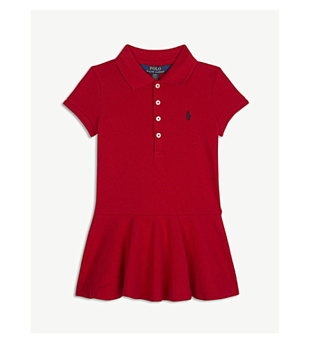 RALPH LAUREN Pony cotton-blend dress 2-4 years (Red