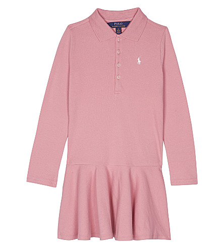 RALPH LAUREN Polo cotton dress 2-6 years (Rugby+pink