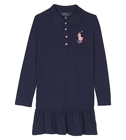 RALPH LAUREN Big polo pony cotton dress 2-6 years (Newport+navy