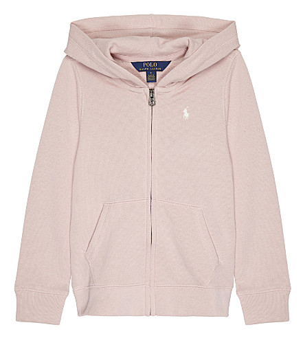 RALPH LAUREN pony cotton-blend hoody 2-6 years (Petal