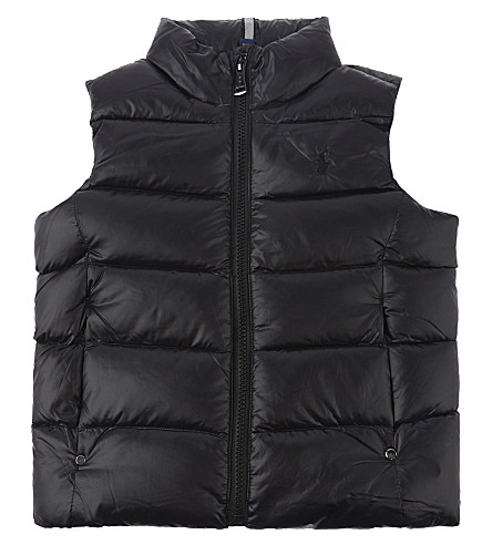 RALPH LAUREN Logo down puffer gilet 2-6 years (Polo+black