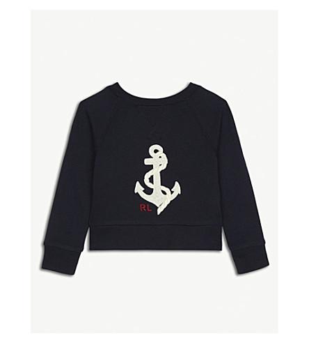 RALPH LAUREN Anchor cotton-blend jumper 2-4 years (Navy