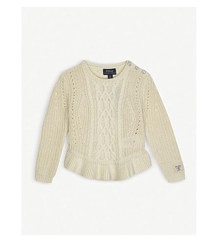 RALPH LAUREN Peplum knitted jumper 2-4 years (Cream
