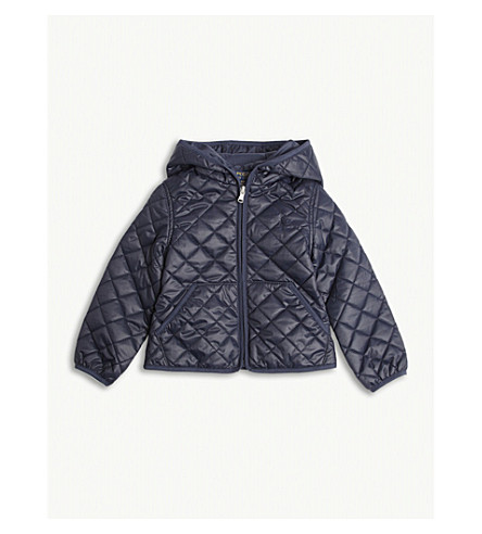 RALPH LAUREN Quilted hooded jacket 2-4 years (Hunter+navy