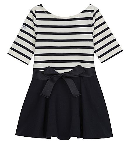 RALPH LAUREN Striped ponte dress 2-4 years (Navy