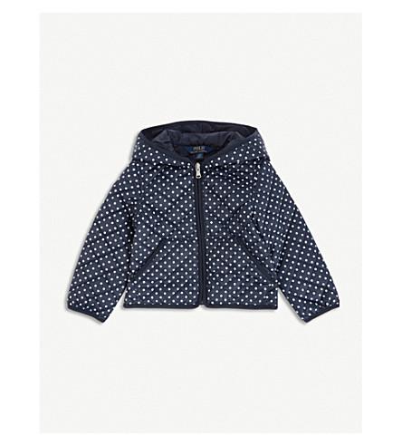 RALPH LAUREN Polka dot-printed shell jacket 2-4 years (Navy/white