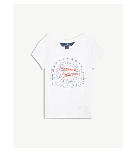RALPH LAUREN Anchor cotton T-shirt 2-4 years (White