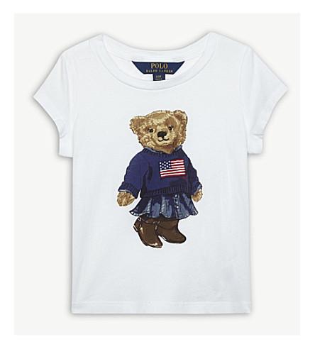 RALPH LAUREN Polo bear cotton T-shirt 2-4 years (White