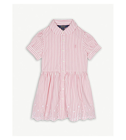 RALPH LAUREN Stripe cotton shirt dress 2-4 years (Pink/white