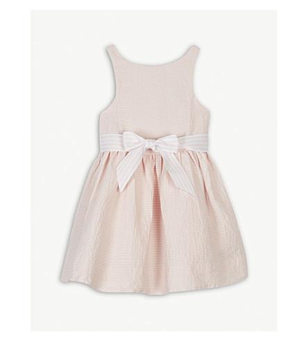 RALPH LAUREN Stripe bow cotton dress 2-4 years (Morning+pink
