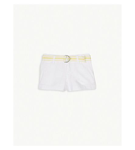 RALPH LAUREN Stripe belt cotton chino shorts 2-4 years (White