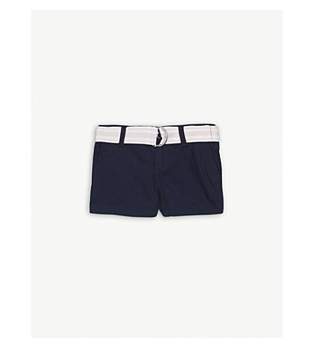 RALPH LAUREN Belt cotton chino shorts 2-4 years (French+navy