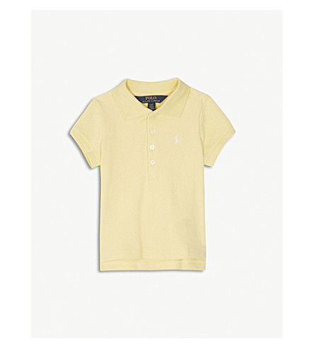 RALPH LAUREN Logo cotton-blend polo shirt 2-4 years (Yellow
