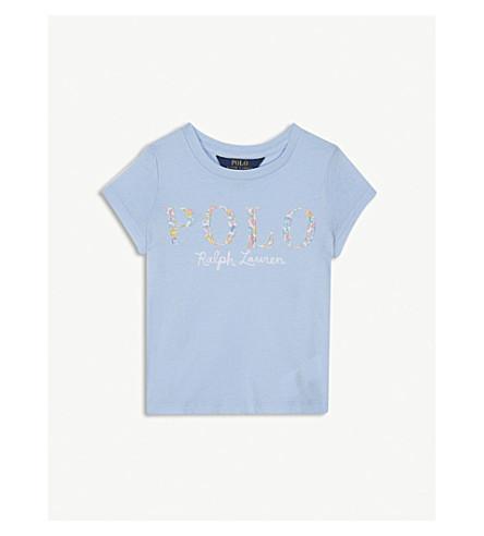 RALPH LAUREN Floral polo logo cotton T-shirt 2-4 years (Elite+blue