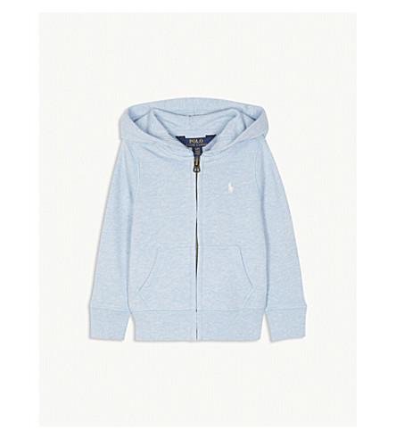 RALPH LAUREN Logo zip-up cotton-blend hoody 2-4 years (Elite+blue