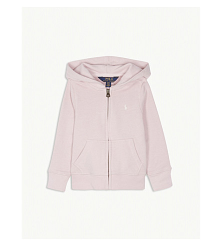 RALPH LAUREN Logo zip-up cotton-blend hoody 2-4 years (Hint+of+pink