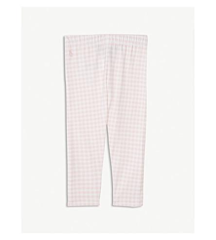 RALPH LAUREN Gingham print cotton-blend leggings 2-4 years (Pink+multi