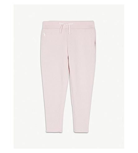RALPH LAUREN Logo cotton-blend jogging bottoms 2-4 years (Hint+of+pink