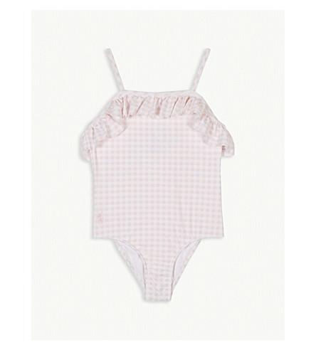 RALPH LAUREN Gingham frill swimming costume 2-4 years (Pink+multi