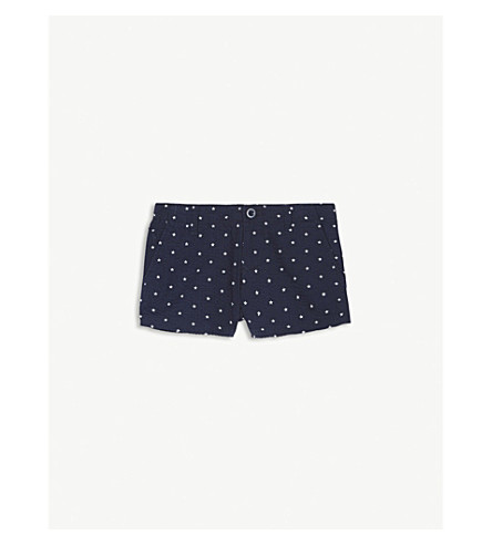 RALPH LAUREN Star print seersucker cotton shorts 2-4 years (Summer navy