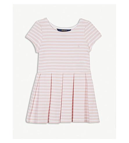 RALPH LAUREN Stripe knitted skater dress 2-4 years (Pink/white