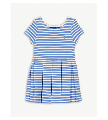 RALPH LAUREN Striped cotton skater dress 2-4 years (Harbor+island+blue/white