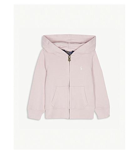 RALPH LAUREN Polo zipped cotton-blend hoody 2-6 years (Hint+of+pink