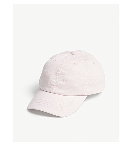 RALPH LAUREN Embroidered logo cotton baseball cap (Hint+of+pink