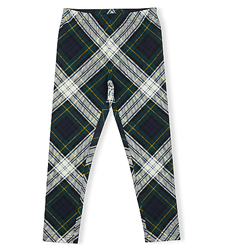 RALPH LAUREN Plaid cotton leggings (Navy/green+mult
