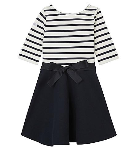 RALPH LAUREN Striped ponte dress 5-6 years (Navy