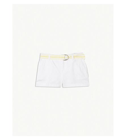 RALPH LAUREN Belt chino shorts 5-6 years (White