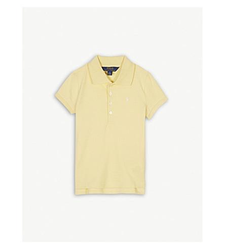 RALPH LAUREN Pony cotton polo shirt 5-6 years (Yellow
