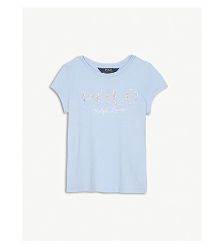 RALPH LAUREN Floral logo cotton t-shirt 5-6 years (Elite+blue