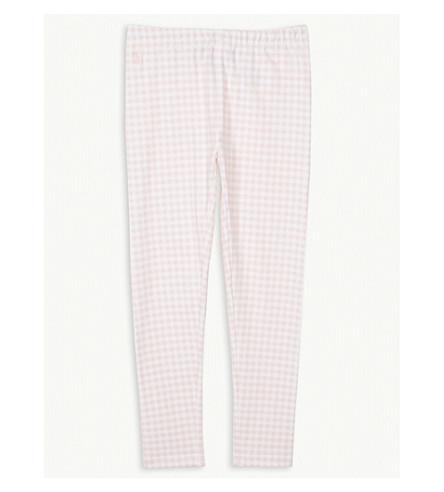 RALPH LAUREN Gingham cotton-blend leggings 5-6 years (Pink+multi