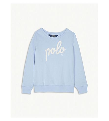RALPH LAUREN Cotton-blend brand appliqué jumper 5-6 years (Elite+blue