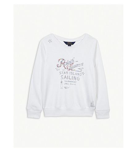 RALPH LAUREN Graphic cotton sweatshirt 5-6 years (White
