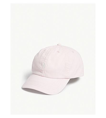 RALPH LAUREN Pony cotton strapback cap (Hint+of+pink