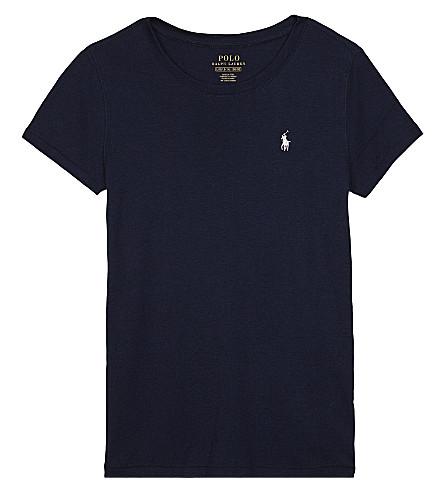 RALPH LAUREN Cotton-blend T-shirt 7-14 years (Navy