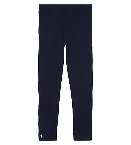 RALPH LAUREN Stretch cotton leggings 7-14 years (Navy