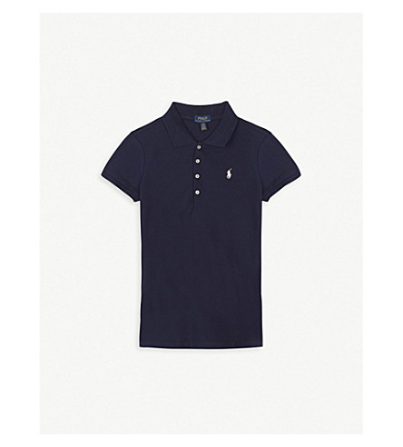 RALPH LAUREN Logo cotton polo shirt S-XL (Navy