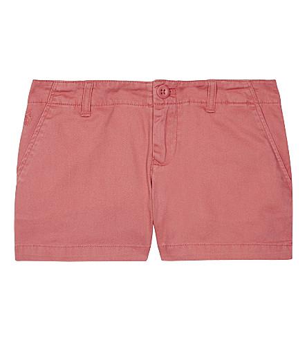 RALPH LAUREN Cotton chino shorts 7-16 years (Salmon+berry
