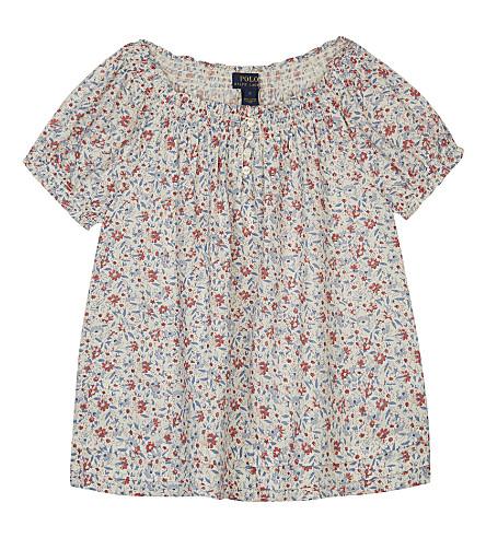 RALPH LAUREN Floral print blouse 7-16 years (Cream+multi