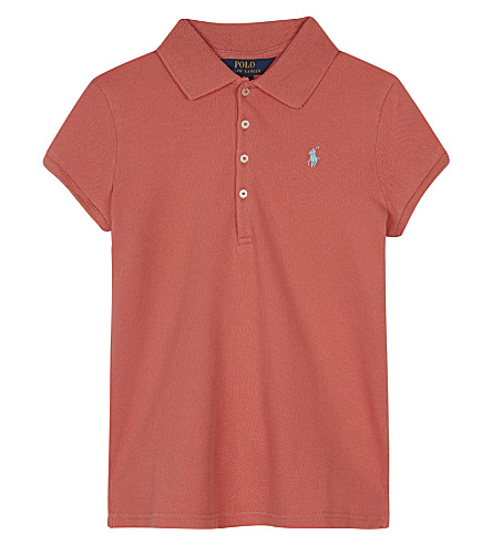 RALPH LAUREN Logo cotton polo shirt 7-14 years (Shrimp