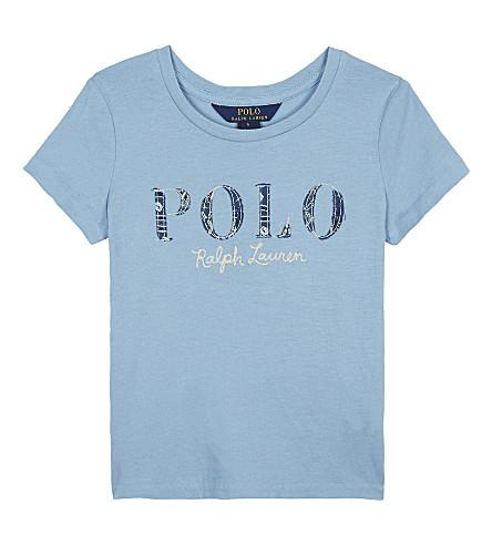 RALPH LAUREN Logo cotton T-shirt 7-14 years (Bolivian+blue