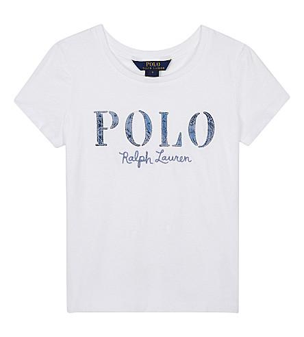 RALPH LAUREN Logo cotton T-shirt 7-14 years (White