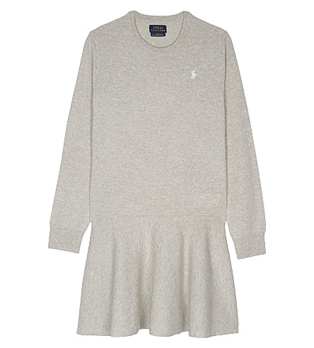 RALPH LAUREN Wool jumper dress 7-14 years (Grey/heather