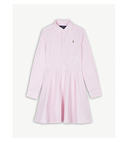 RALPH LAUREN Oxford cotton shirt dress 7-16 years (Pink