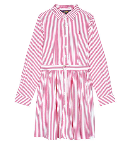 RALPH LAUREN Bengal striped cotton dress 7-16 years (Pink/white