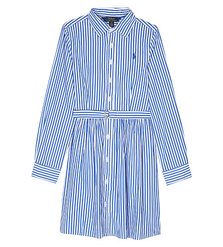 RALPH LAUREN Bengal striped cotton dress 7-16 years (Blue/white
